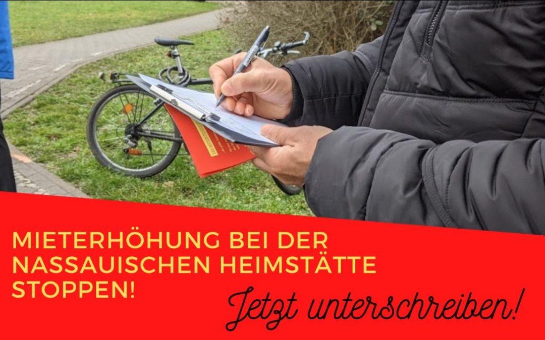 Mietentscheid fordert: Mieterhöhungen der Nassauischen Heimstätte zurücknehmen!